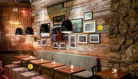 Idéias inspiradoras de decoração para Restaurantes e bares  