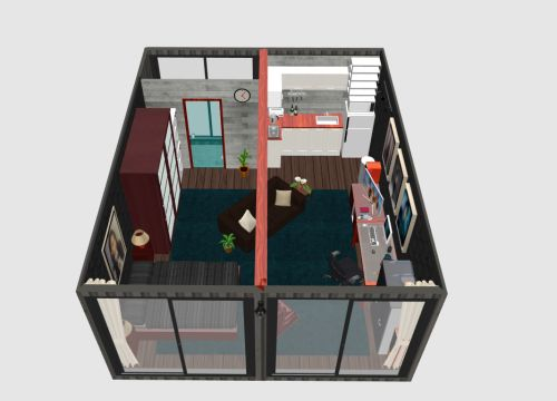 another 2 x 20ft shipping container design