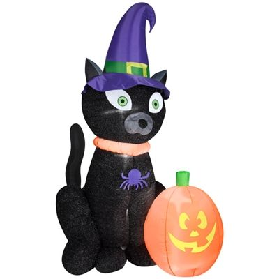 airblown witchy black cat available at these retailers lowes lowes mexico 7499 halloween inflatableshalloween - Lowes Halloween Inflatables