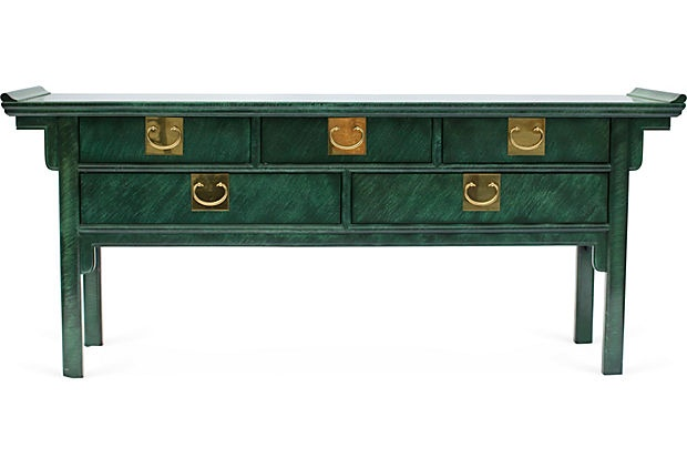 Faux-Malachite Credenza on OneKingsLane.com