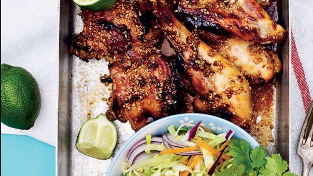 kylling med honning og sesam