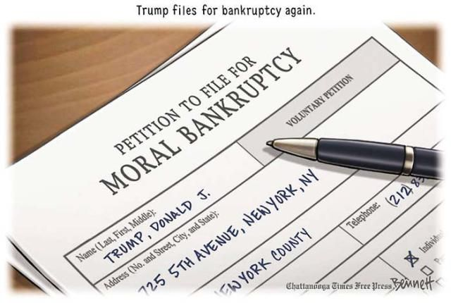 Political Cartoons of the Week: Trump Moral Bankruptcy