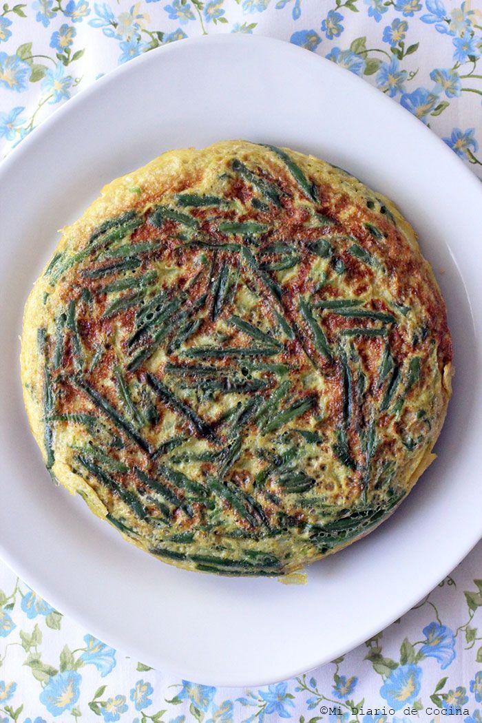 Sencilla y deliciosa Tortilla de porotos verdes, perfecta como acompañamiento y una manera diferente de disfrutar los clásicos porotos verdes.