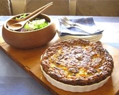 Impossible Quiche - all the ingredients are mixed together and poured into a dish and when it cooks it forms it's own crust with filling.