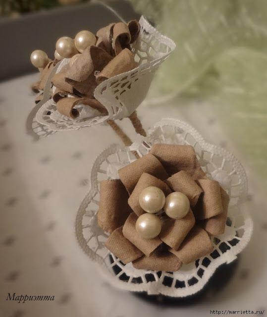 Flores de caixa de ovos