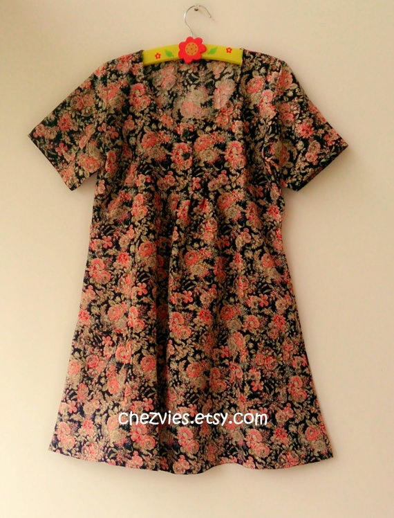 Floral babydoll tunic dress by chezvies on Etsy, $25.00