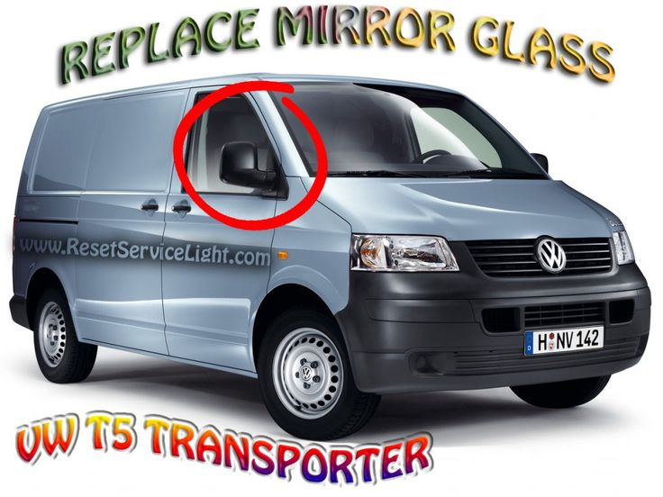Change the glass of the side mirror on Volkswagen T5 Transporter