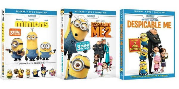 RUN! Despicable Me / Despicable Me 2 / Minions Blu-Ray Bundle Only $23.99!!!  GO===> http://thriftymommaramblings.com/2016/03/run-despicable-me-despicable-me-2-minions-blu-ray-bundle-only-23-99/