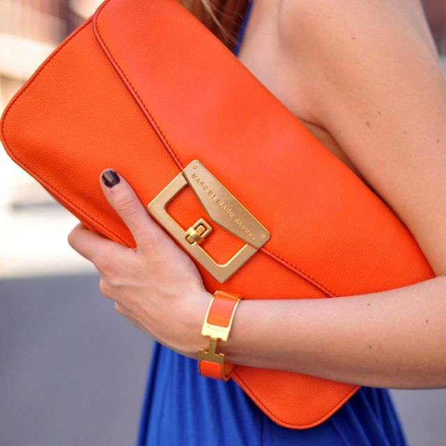 Marc Jacobs Bianca Clutch: Hermes Bracelets, Colors Combos, Clutche, Orange Crushes, Cobalt Blue, Design Handbags, Marcjacobs, Marc Jacobs, Bright Colors