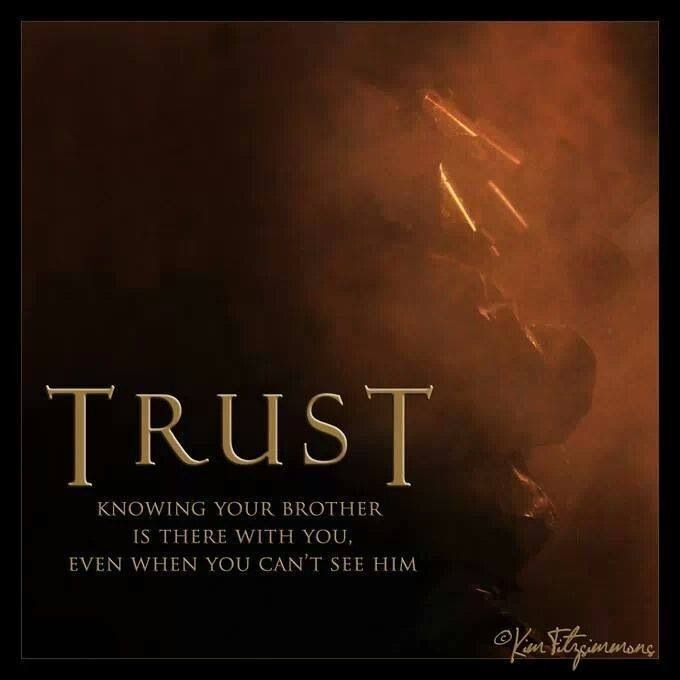 Brotherhood Quotes: TRUST... Is Knowing Your Brother Is There For You Even If