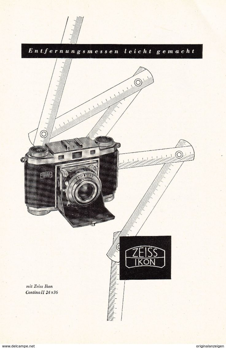 Werbung - Original-Werbung/ Anzeige 1954 - ZEISS IKON CONTINA II KAMERA - ca. 155 x 230 mm