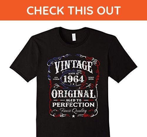 Mens Vintage Made In 1964 Birthday Gift T-Shirt Medium Black - Birthday shirts (*Amazon Partner-Link)