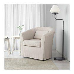 IKEA - TULLSTA, Sessel, natur/Blekinge weiß, , Leicht sauber zu halten - der abnehmbare Bezug kann in der Maschine gewaschen werden.Mit losem Kissen für sanfte Unterstützung des Rückens.Dank der großen Auswahl an abgestimmten Bezügen lassen sich Polstermöbel ganz einfach öfter neu gestalten.Zierliches Möbelstück - passt in jeden Raum.