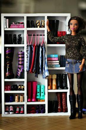 Hey, It's Muff: Use cardboard and craft sticks to make an awesome Barbie wardrobe!