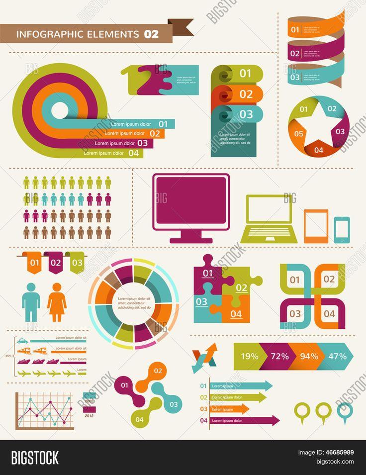 Éléments et les icônes de l'infographie