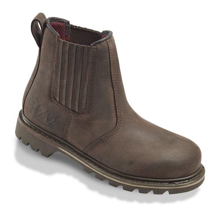 Rawhide V1231 Brown Leather Safety Dealer Boots