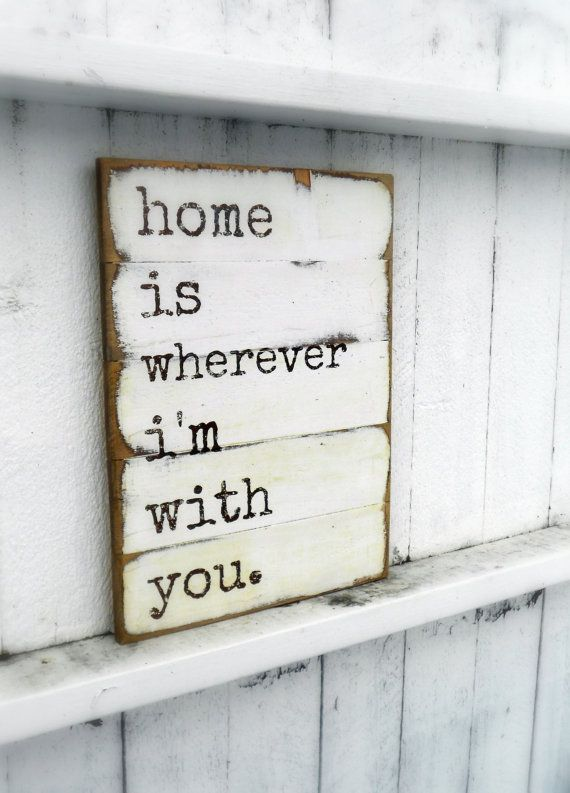 Home Wooden Sign 13 X 17 Shabby Chic - Cottage - Typography - Retro - Love via Etsy>> love this & need to make one :)!