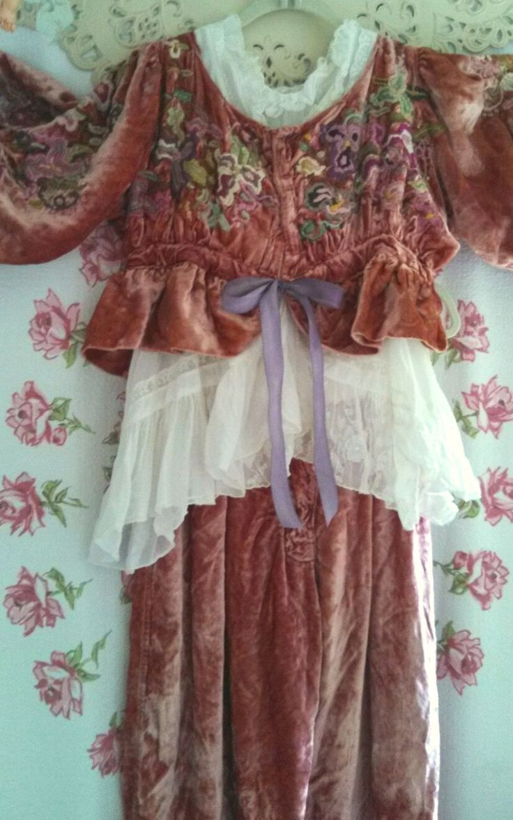 Sumptuous Magnolia Pearl Velvet Bloomers Pants Cinnamony Rose Fab with Boots | eBay