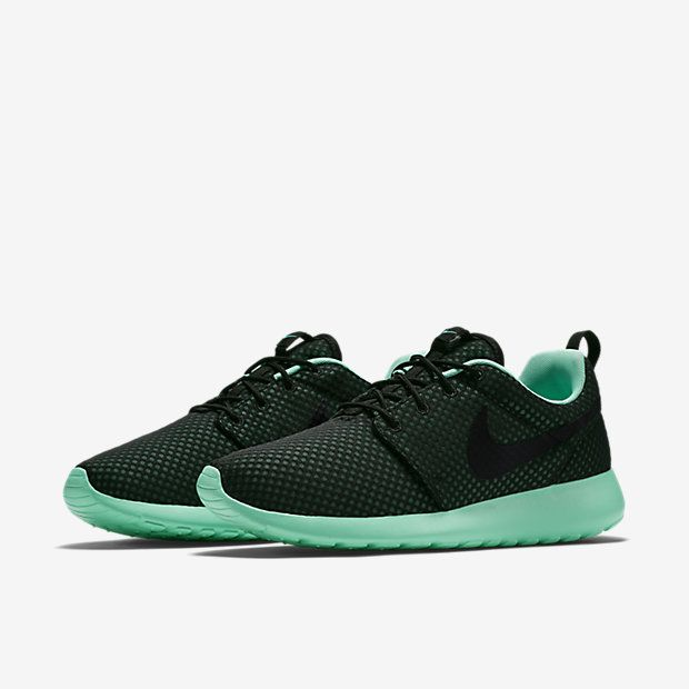 Nike Roshe One Premium - Black / Green Glow - Black. Women Nike ShoesRunning  ...