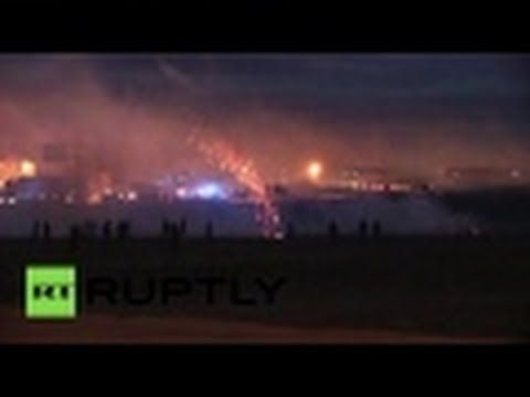 'Jungle crisis': Police fire teargas and stun flashes in Calais motorway...