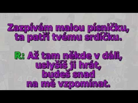 Dechovka směs - Sbohem buď miláčku - text