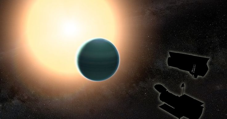 Warm Neptune has unexpectedly primitive atmosphere  Warm Neptune has unexpectedly primitive atmosphere  The atmosphere of the distant warm Neptune HAT-P-26b illustrated here is unexpectedly primitive composed primarily of hydrogen and helium. Image credit: NASA/GSFC  A study combining observations from NASAs Hubble and Spitzer space telescopes reveals that the distant planet HAT-P-26b has a primitive atmosphere composed almost entirely of hydrogen and helium. Located about 437 light-years…