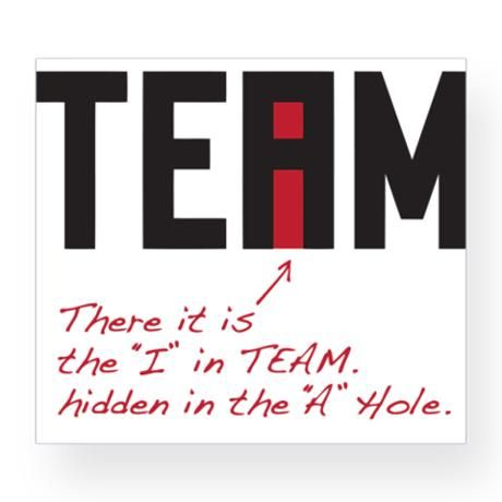 """There it is!  The """"I"""" in TEAM... hidden in the """"A"""" Hole."""