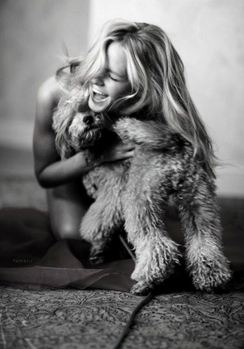 Owner & dog hug!