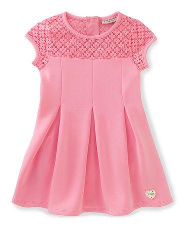 Another great find on #zulily! Pink Floral-Yoke Skater Dress - Infant, Toddler & Girls #zulilyfinds