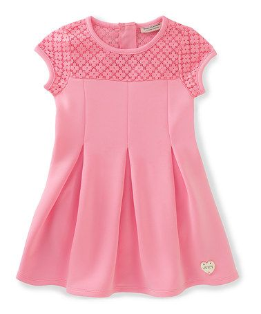 Another great find on #zulily! Pink Floral-Yoke Skater Dress - Infant, Toddler & Girls #zulilyfinds