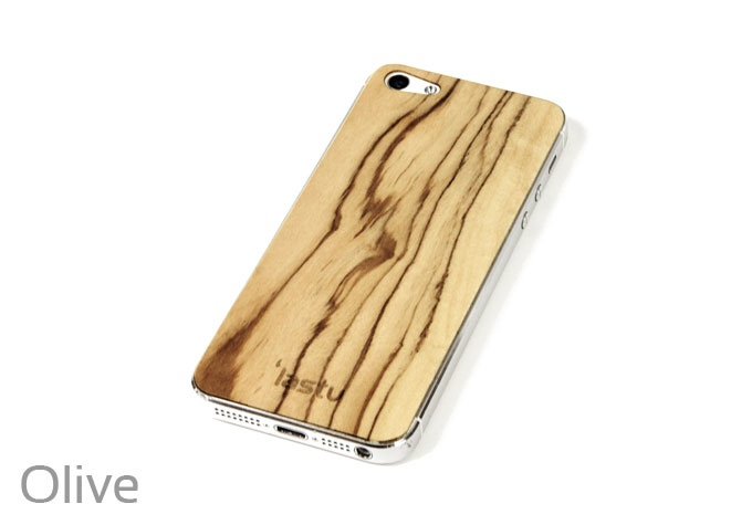 Olive wooden skin for iPhone 5