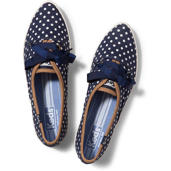 Keds navy polka dot pointed sneakers - from 2014