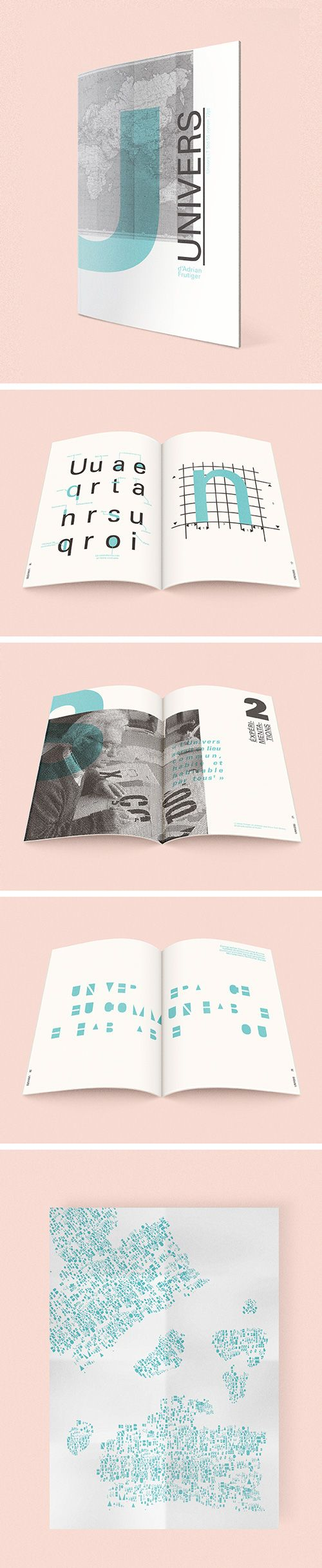 Font collection - Univers - Adrian Frutiger on Behance