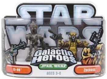 News Videos & more -  Hasbro 85418 Star Wars Galactic Heroes Mini-Figure 2 Pack - IG-88 & Zuckuss #Music #Videos #News Check more at https://rockstarseo.ca/hasbro-85418-star-wars-galactic-heroes-mini-figure-2-pack-ig-88-zuckuss/