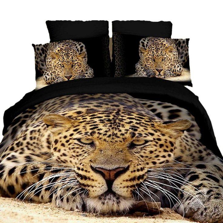 Queen Size Duvet Cover Sheets Set, Ghepardo