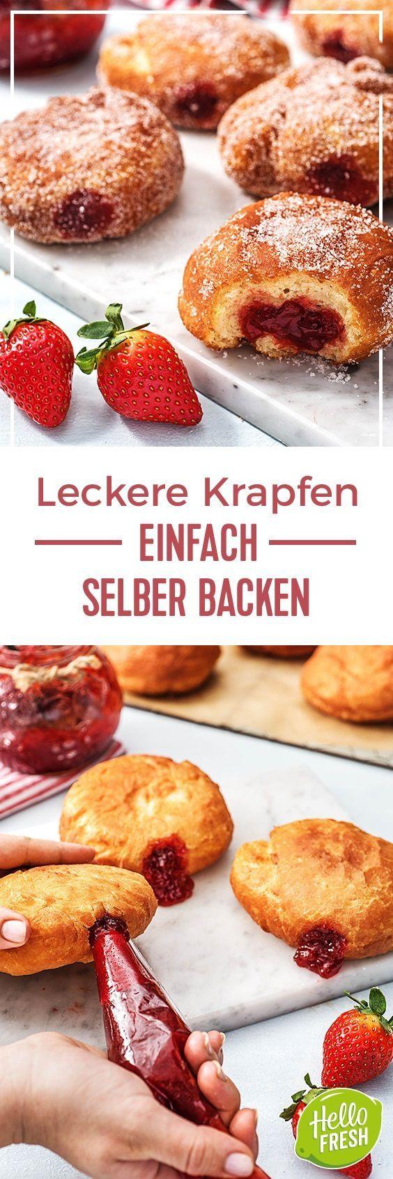 Step by Step Rezept: Krapfen selber machen   Kochen / Essen / Ernährung / Lecker / Kochbox / Zutaten / Gesund / Schnell / Frühling / Einfach / DIY / Küche / Gericht / Blog / Leicht / selber machen / backen  / berliner / marmelade / donuts / süß  #hellofreshde #kochen #essen #zubereiten #zutaten #diy #rezept #kochbox #ernährung #lecker #gesund #leicht #schnell #frühling #einfach #küche #gericht #trend #blog #selbermachen #backen #krapfen #berliner #donuts #karneval #süß