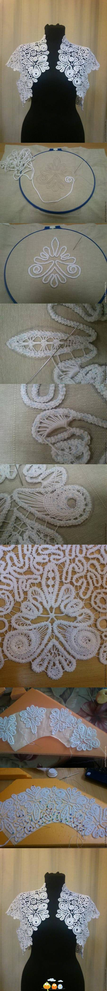 Romanian ace / macramé it is not cross stitch but very interesting