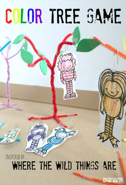 create a playful color tree game inspired by the book where the wild things are - Coloring Games For Preschoolers