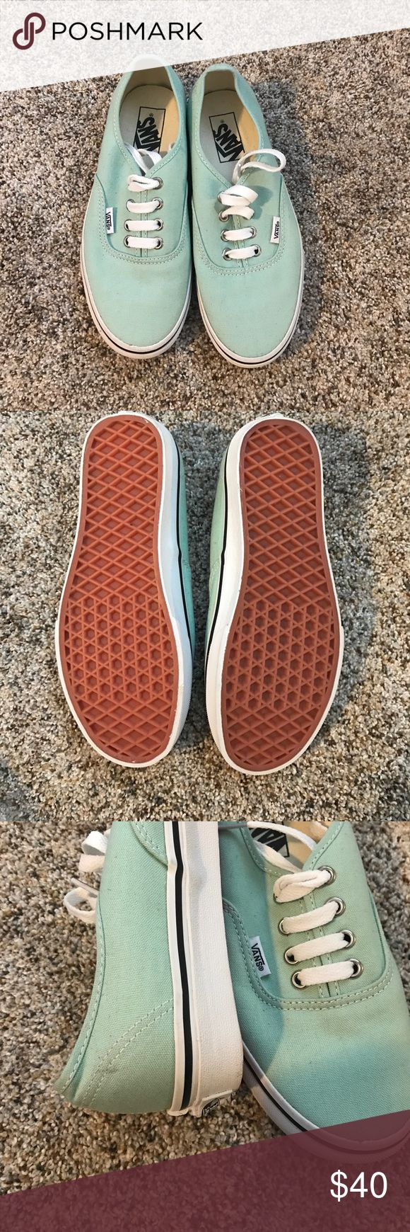 Mint Vans Mint vans that have never been worn...just  as cuff mark from being in the closet for so long! Vans Shoes Sneakers