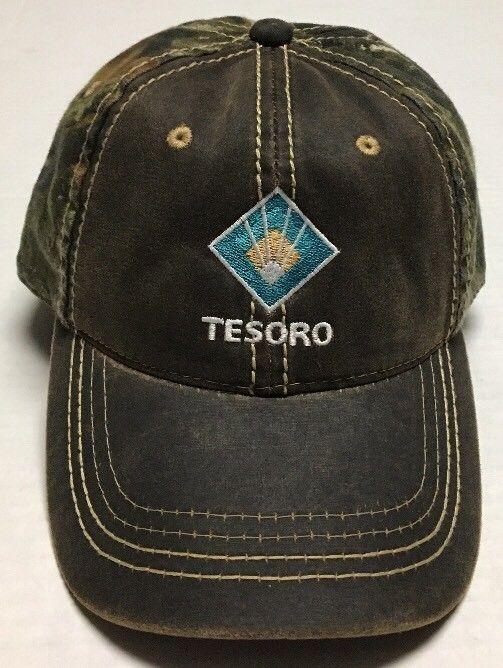 best website 1ba96 2a998 Tesoro Hat Oil Gas Oilfield Baseball Cap Mandan North Dakota Refinery Camo  Hunt  PortAuthority  BaseballCap