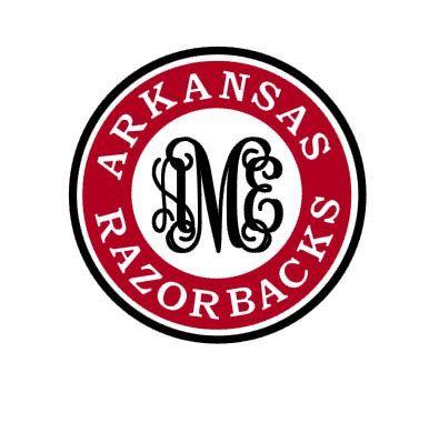 Arkansas Razorbacks Monogram instant download file by bibberberry