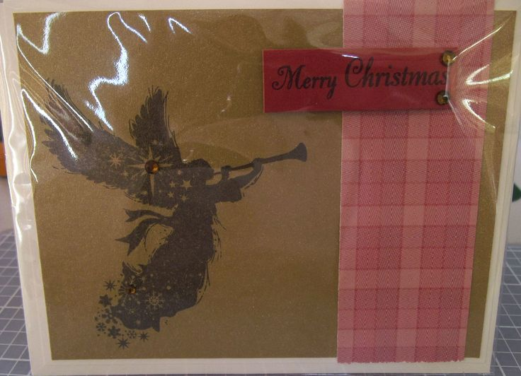Christmas card that I made using Close to my Heart stamps and inks.