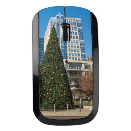 Christmas Downtown Dallas Wireless Mouse Photography