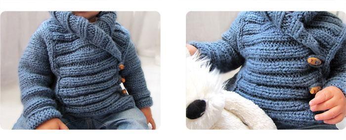 rebeca bebe DIY Cómo hacer una chaqueta de bebé a dos agujas  DIY