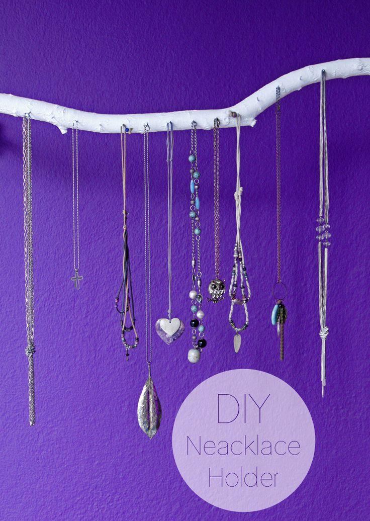 240 best diy jewelry holders crafts images on pinterest bedroom diy necklace holder solutioingenieria Images