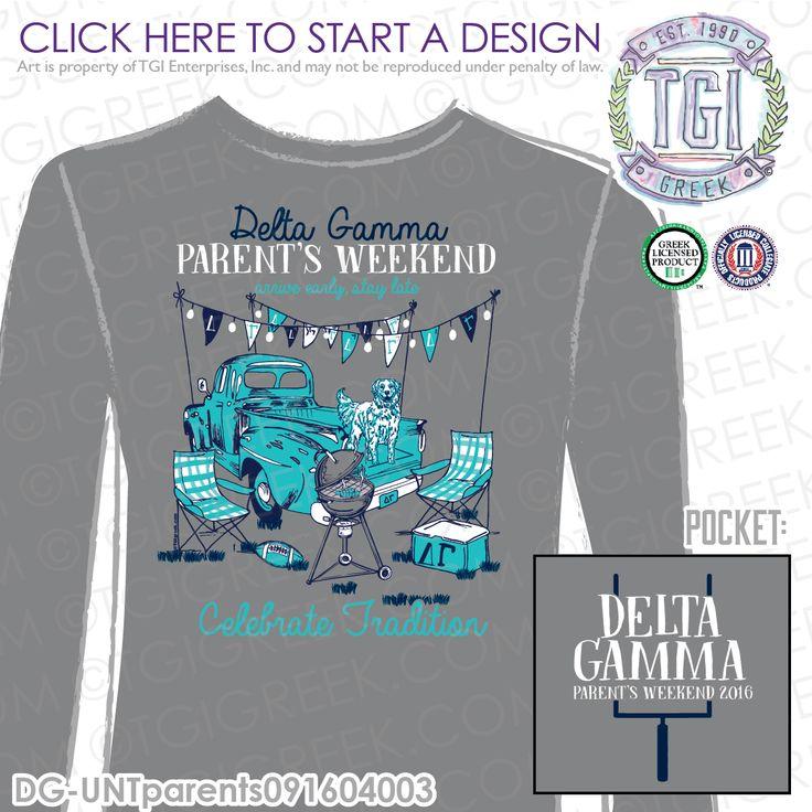 Delta Gamma | DG | ΔΓ | Parents Weekend | HOCO | Sisterhood | Homecoming Tee | Parents Weekend Tee | Parents Weekend T-shirt | Custom Homecoming Apparel | TGI Greek | Greek Apparel | Custom Apparel | Sorority Tee Shirts | Sorority Tanks | Sorority T-shirts