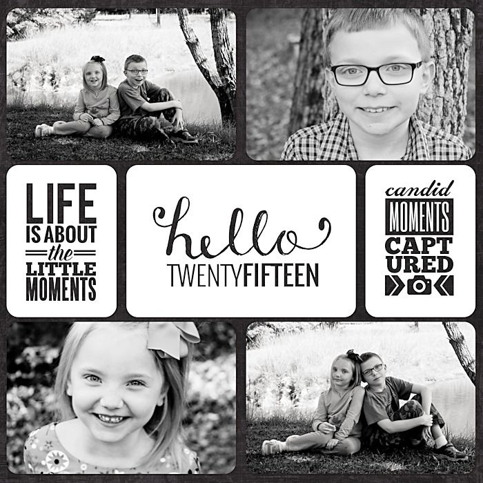 Project Life 2015 Title Page - Scrapbook.com