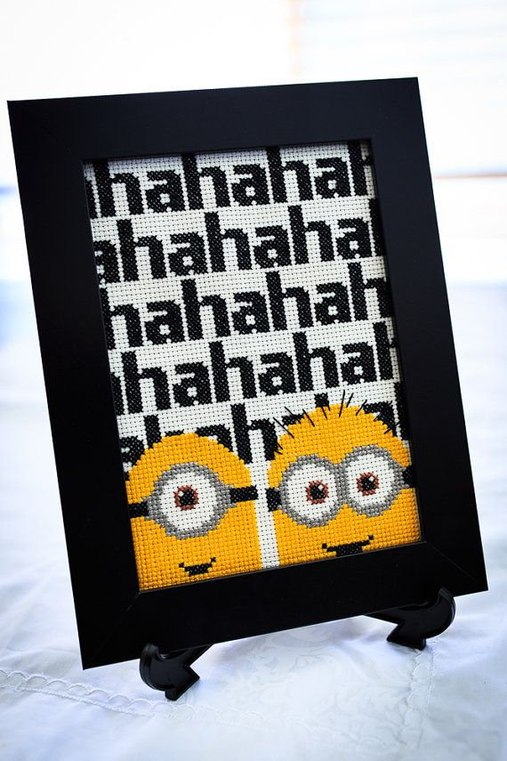 They love gelato and bananas and their giggle is totally infectious....a Minion Despicable Me inspired Cross Stitch Pattern.