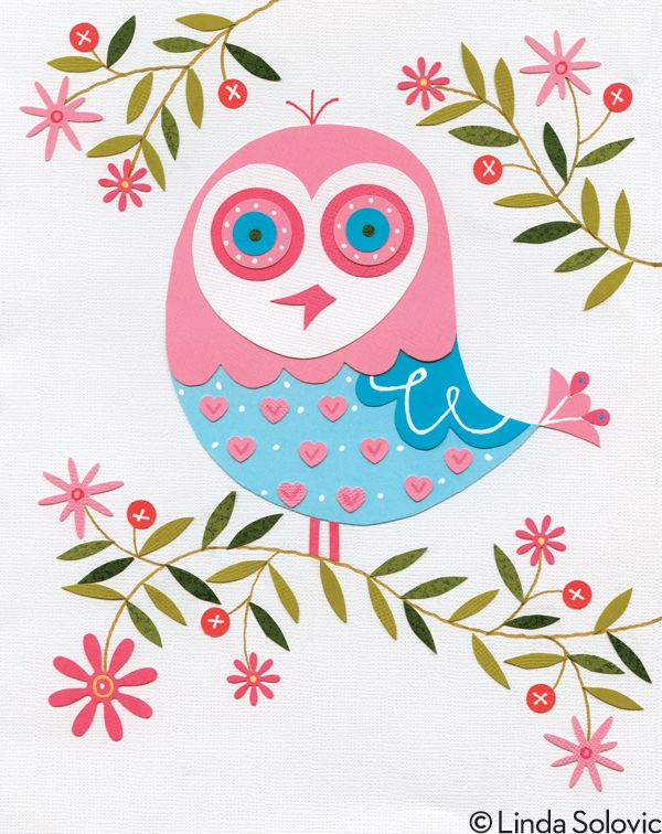 New Owls by Linda Solovic, via Behance