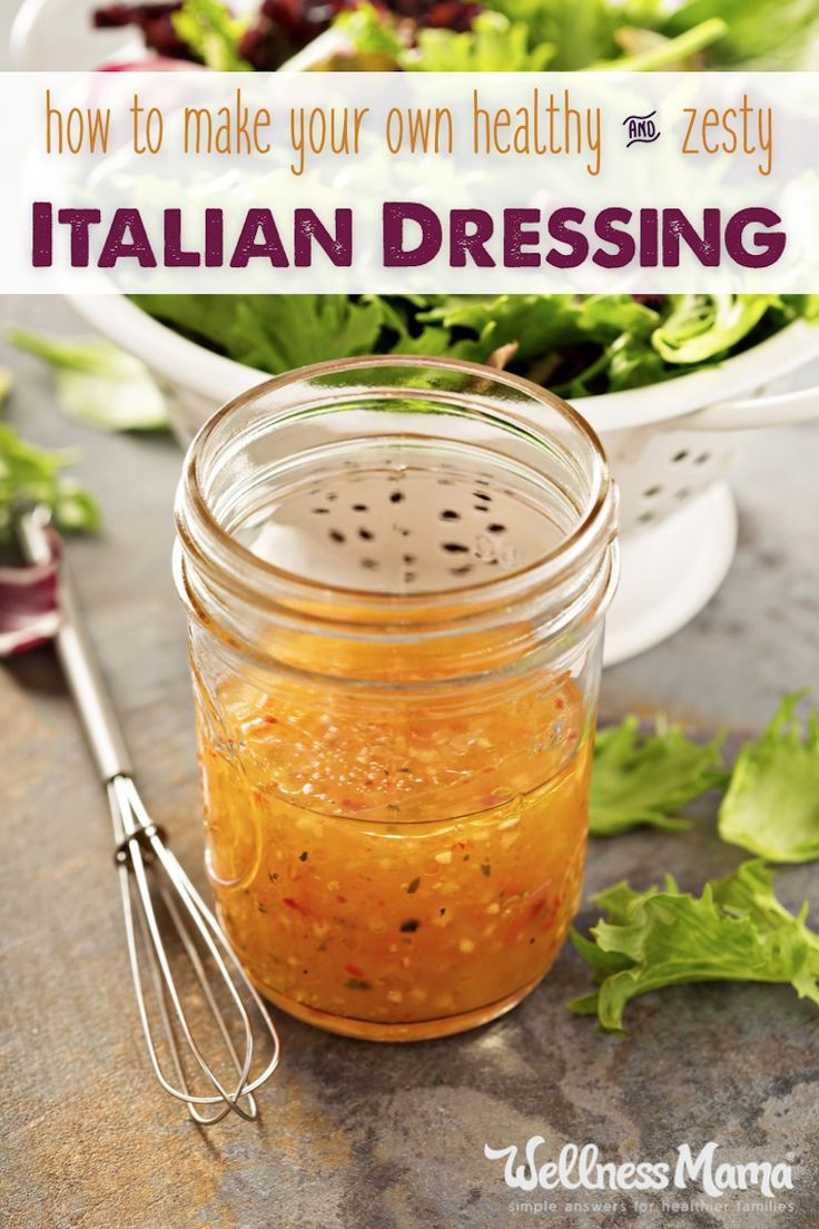 This delicious Italian Dressing combines all natural flavors from olive oil, dijon mustard, wine vinegar, and herbs for a versatile condiment.